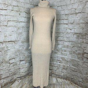 Alice + Olivia Base Beige Sweater Maxi Dress S
